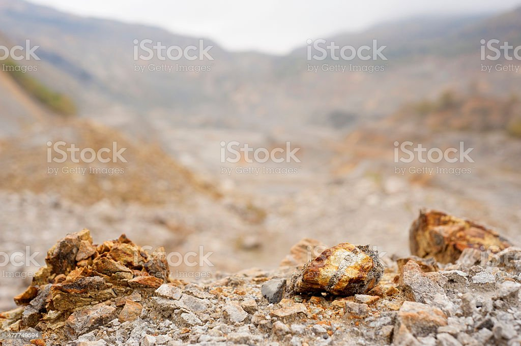 Copper, silver and gold surface mine stock photo