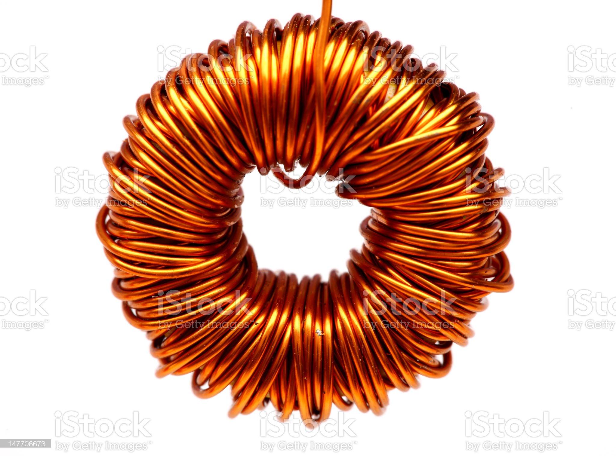 copper spool royalty-free stock photo
