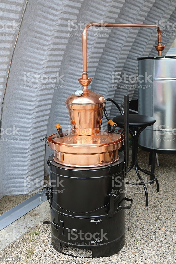 Copper Still Pot stock photo