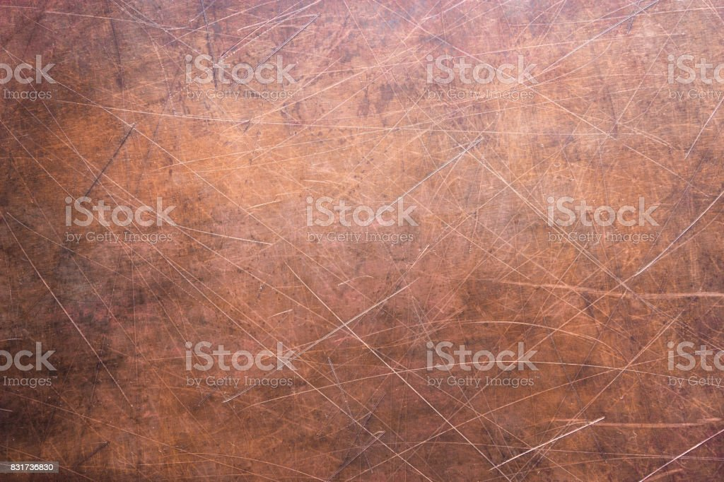 Copper texture or bronze, rustic metal surface stock photo