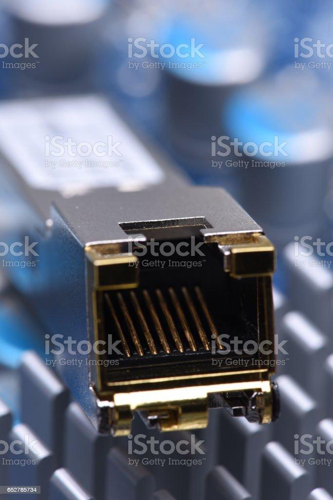 Copper Transceiver stock photo