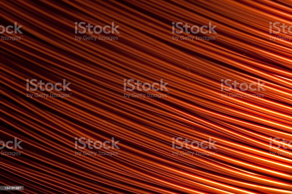 copper varnished wire stock photo