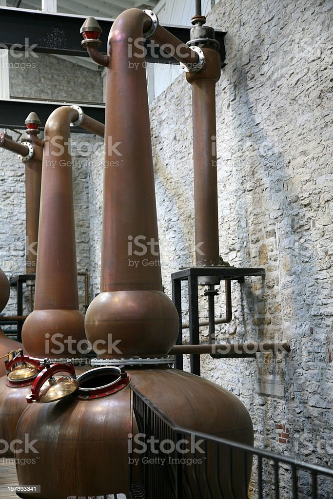 Copper Whiskey Stills stock photo