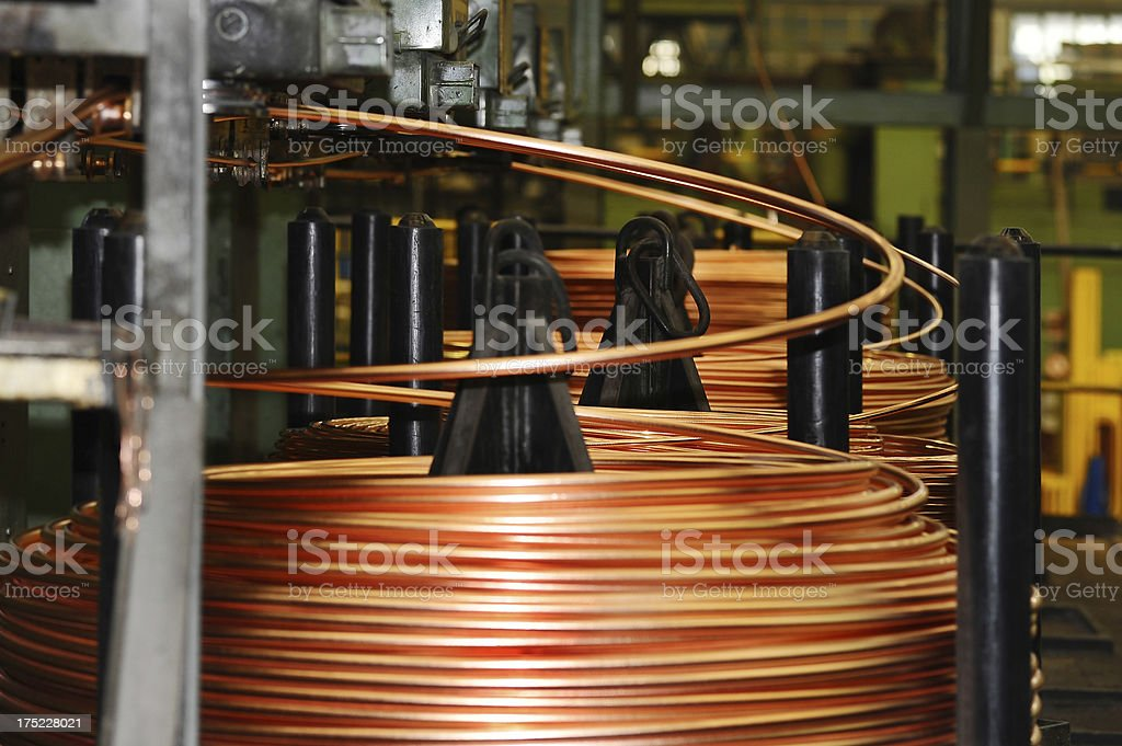 Copper wire royalty-free stock photo