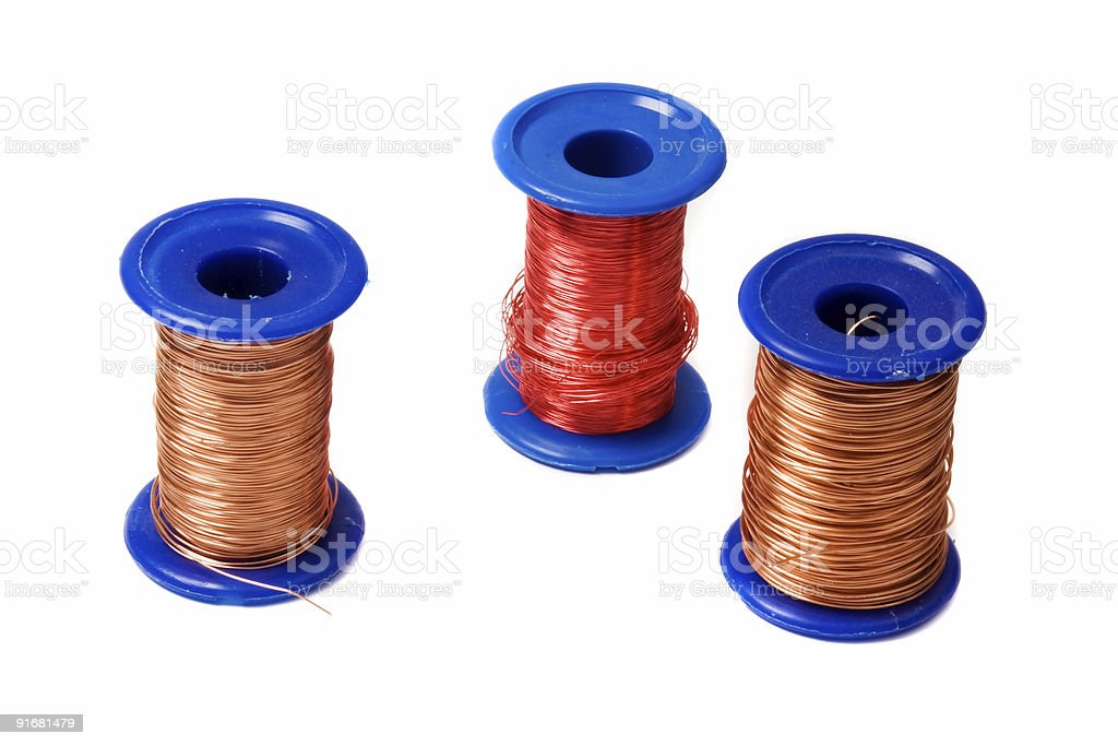 copper wire reels royalty-free stock photo