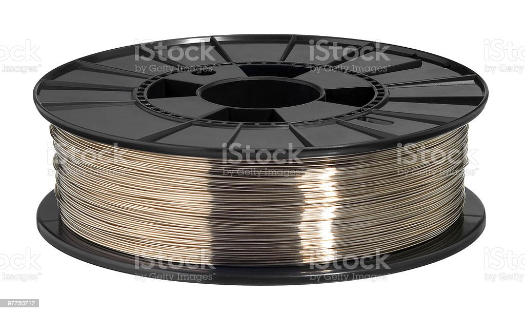 copper wire roll royalty-free stock photo