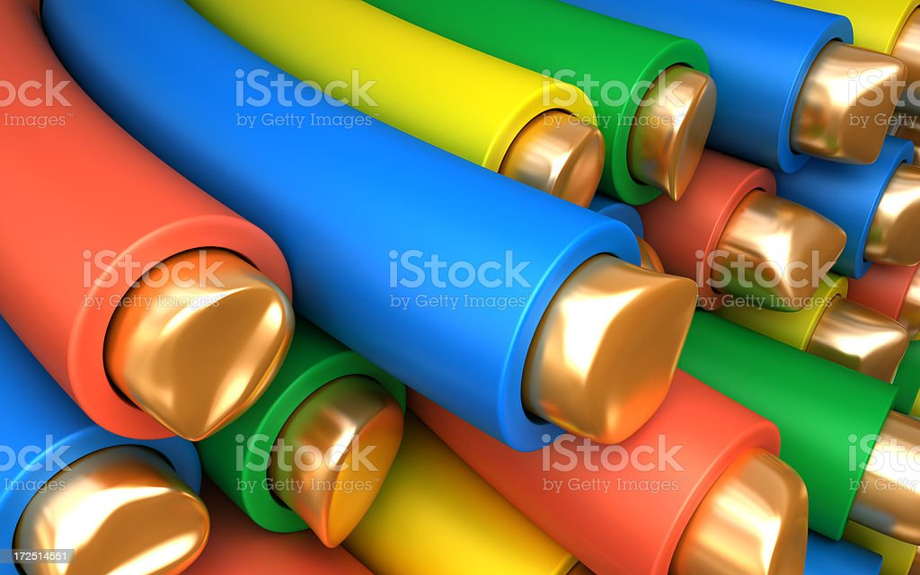 Copper wires royalty-free stock photo