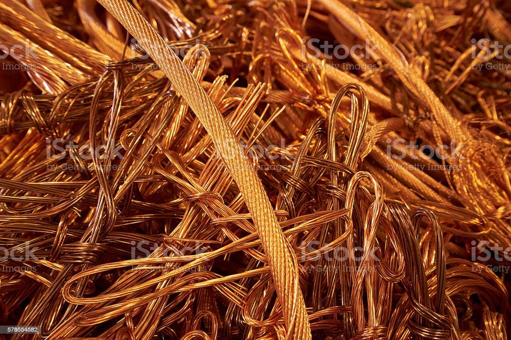 copper wires stock photo