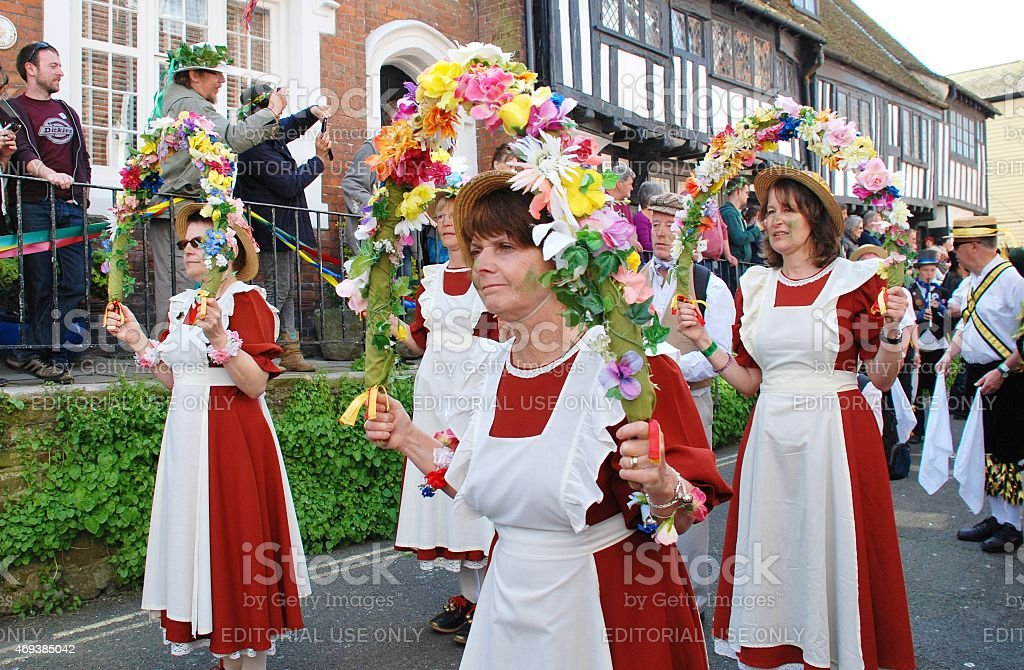 Copperfield Clog morris dancers stock photo