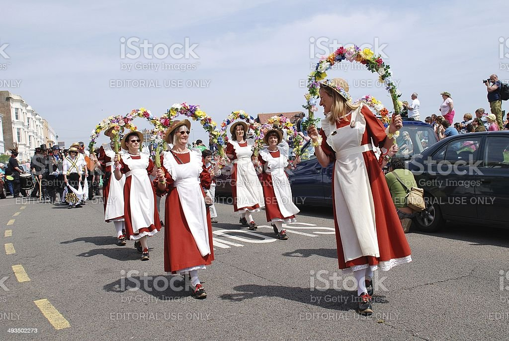 Copperfield Clog Morris team, Hastings stock photo