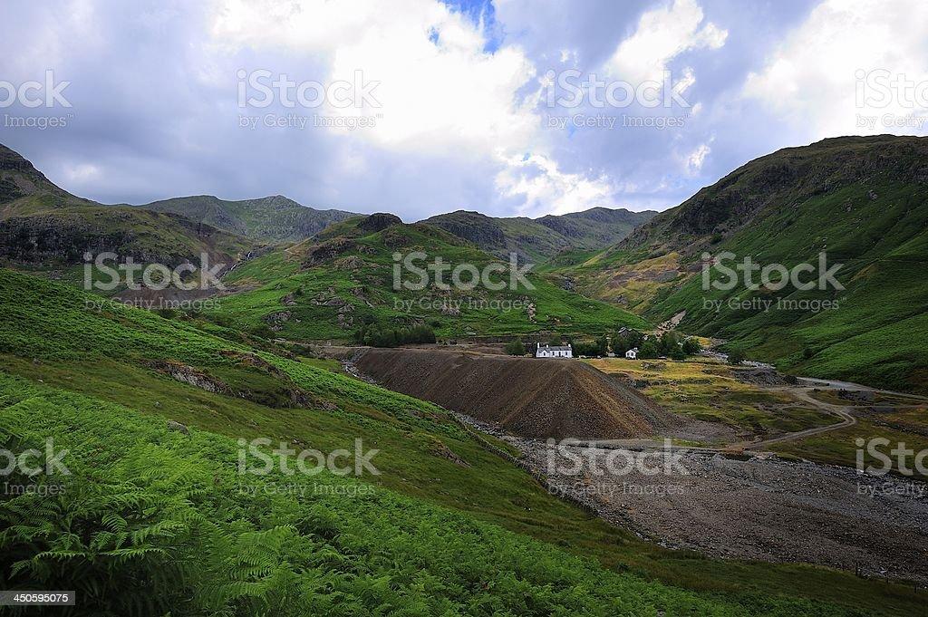 Coppermines at Coniston stock photo