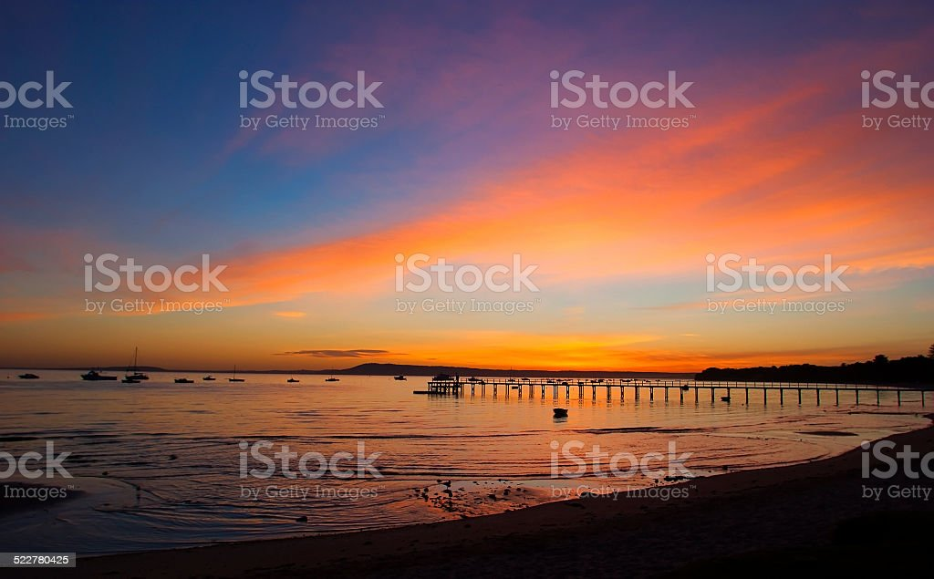 Coppins Jetty, Mornington Peninsula, Victoria, Australia royalty-free stock photo