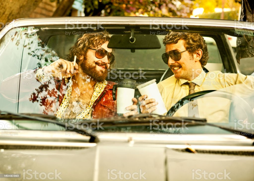 Cops in a car royalty-free stock photo