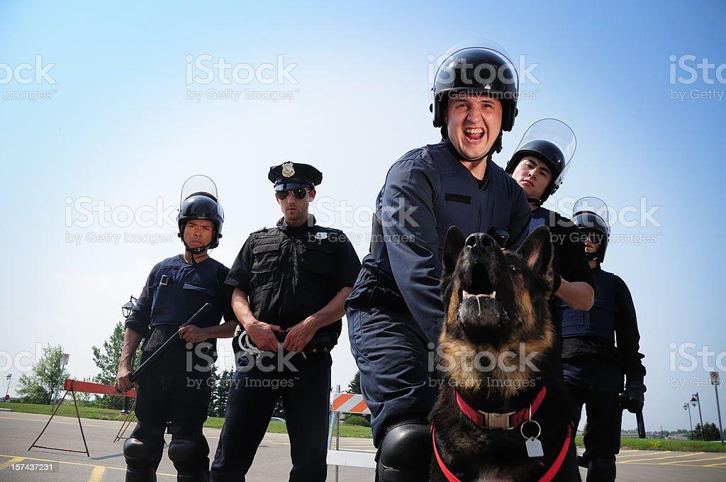 Cops in action stock photo