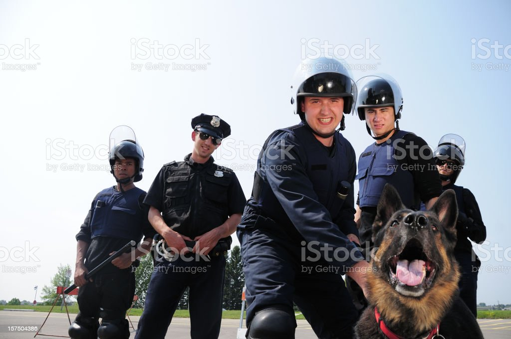 Cops in action royalty-free stock photo