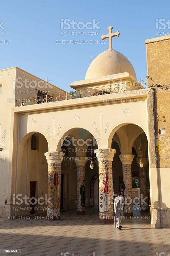 Coptic church and monastery in al-Fayoum stock photo