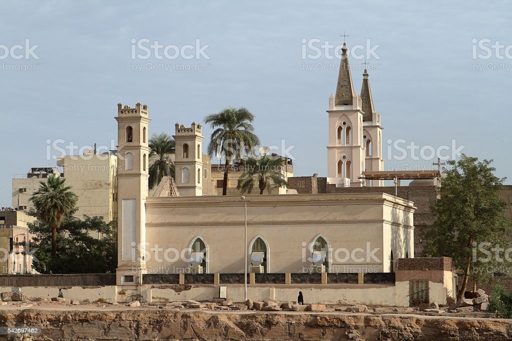 Coptic Church in Egypt stock photo