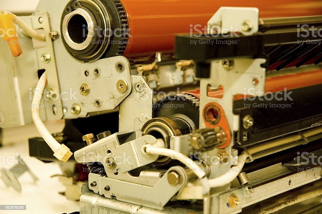 Copy Machine Parts royalty-free stock photo