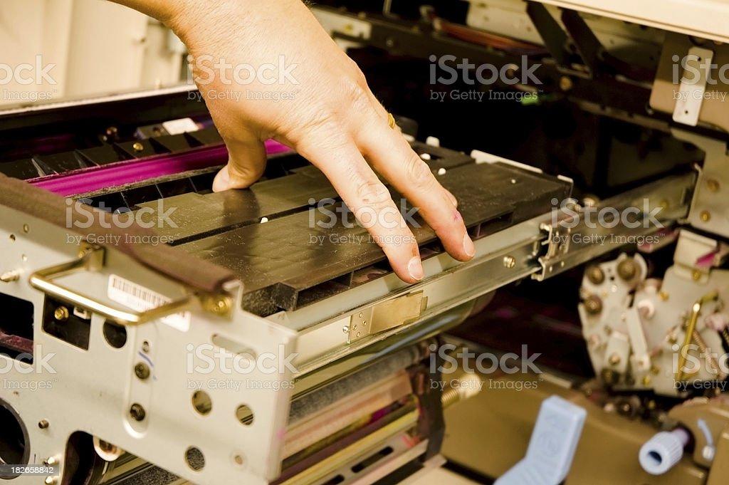 Copy Machine Repair stock photo