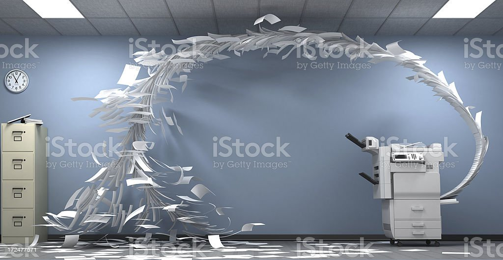 Copy machine went crazy stock photo