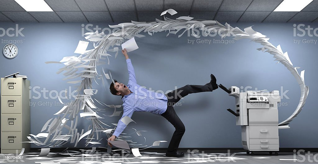 Copy machine went crazy royalty-free stock photo
