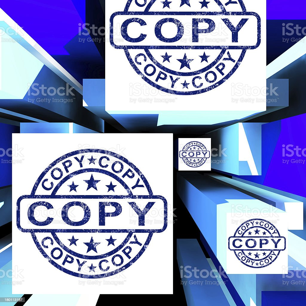 Copy On Cubes Shows Duplicates royalty-free stock photo