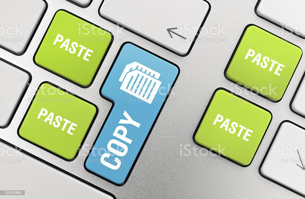 Copy - Paste royalty-free stock photo