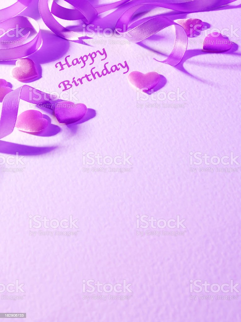 Copy Space and Happy Birthday royalty-free stock photo