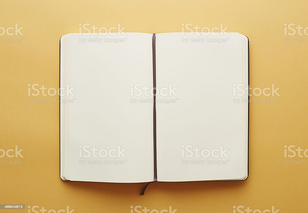 Copy space blank notebook stock photo
