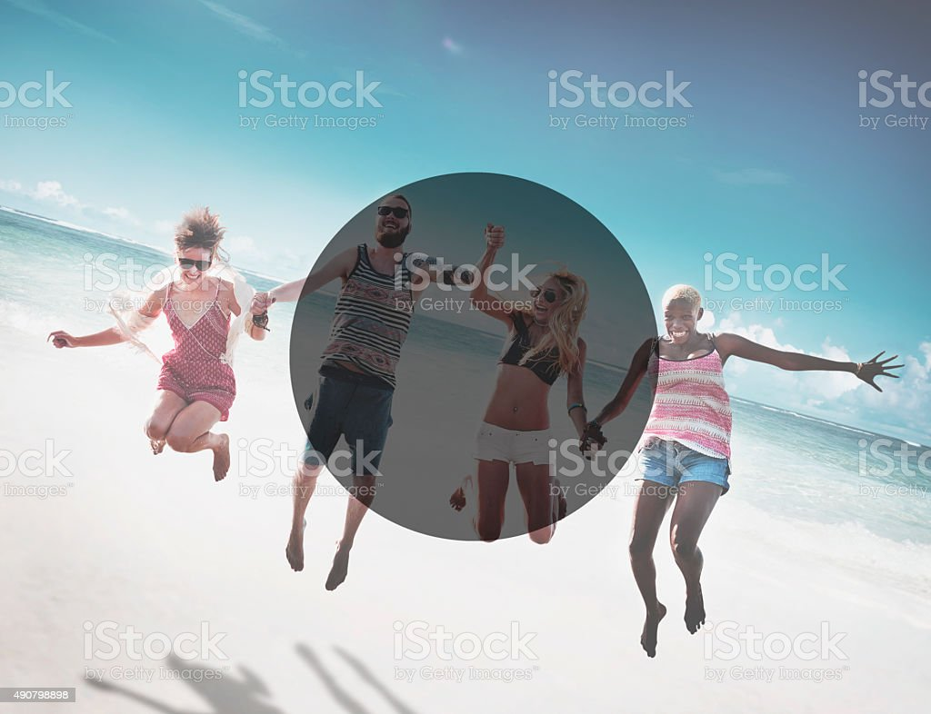 Copy Space Frame Summer Vacation Holiday Concept stock photo