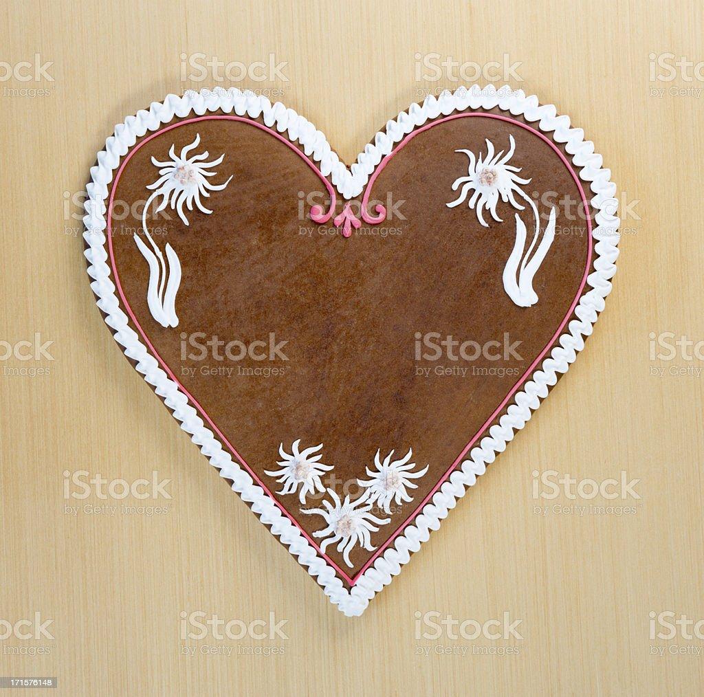 Copy space Gingerbread Cookie Heart, Oktoberfest (XXXL) stock photo
