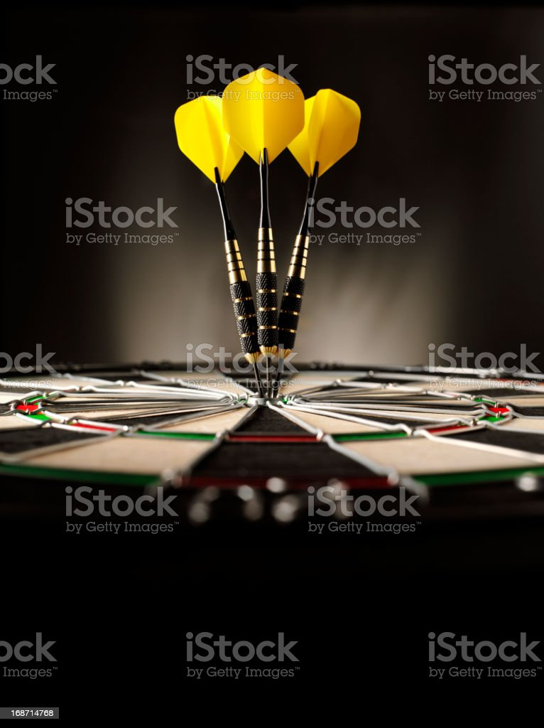 Copy Space in Darts stock photo