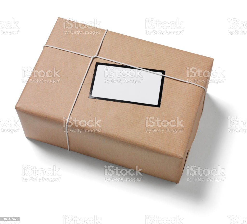 Copy Space on a Parcel royalty-free stock photo