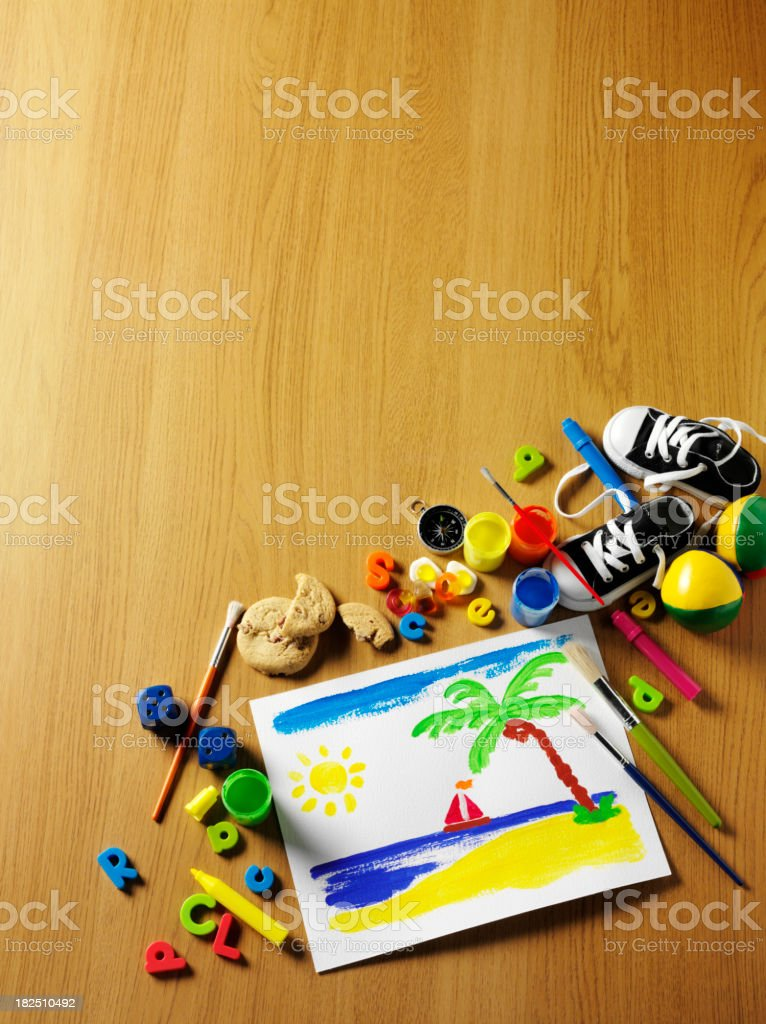 Copy Space with a Holiday Painting royalty-free stock photo