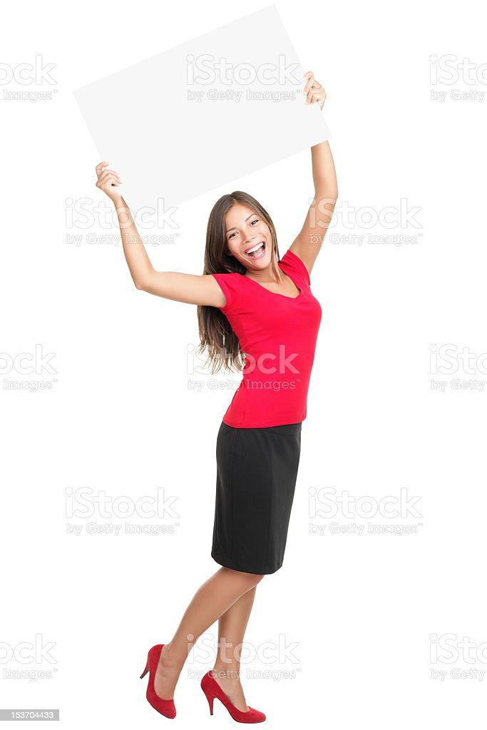 Copy space woman happy royalty-free stock photo