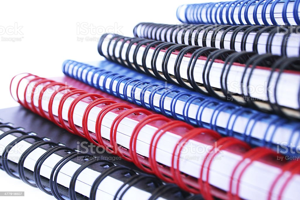 Copybook stack royalty-free stock photo