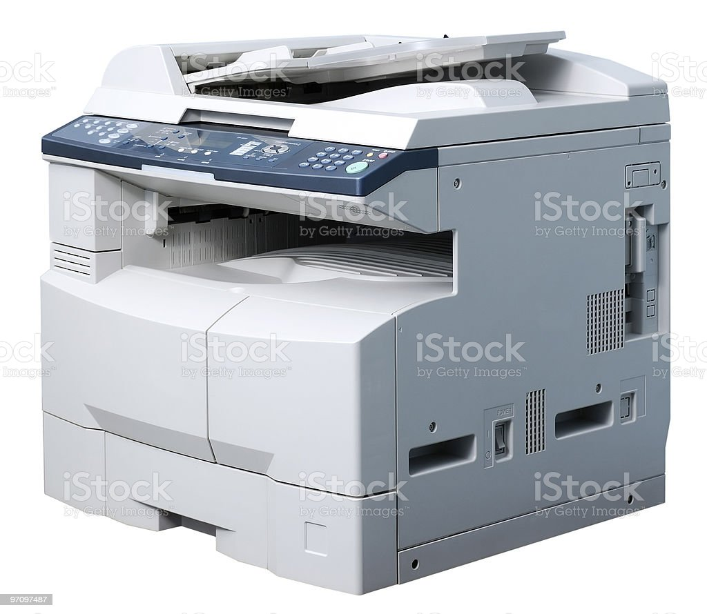 Copying machine stock photo