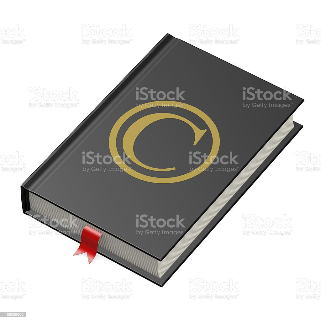 Copyright book royalty-free stock photo