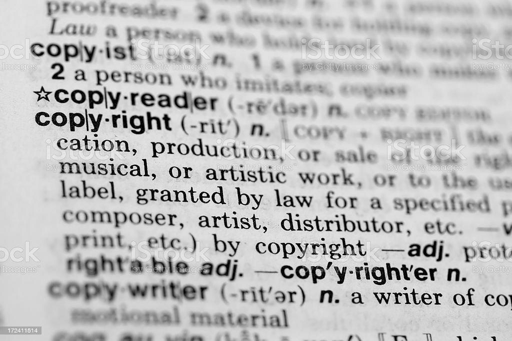 Copyright Definition stock photo