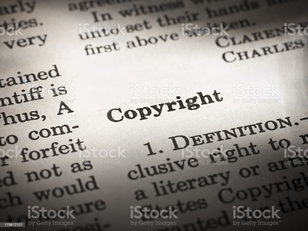 Copyright definition royalty-free stock photo