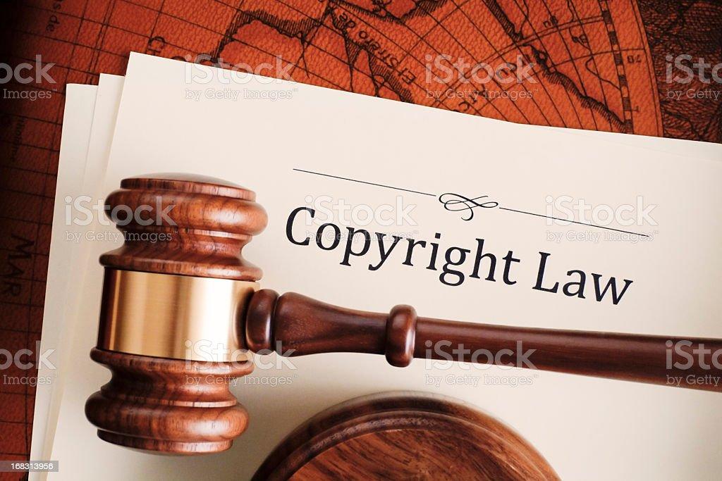 Copyright law stock photo