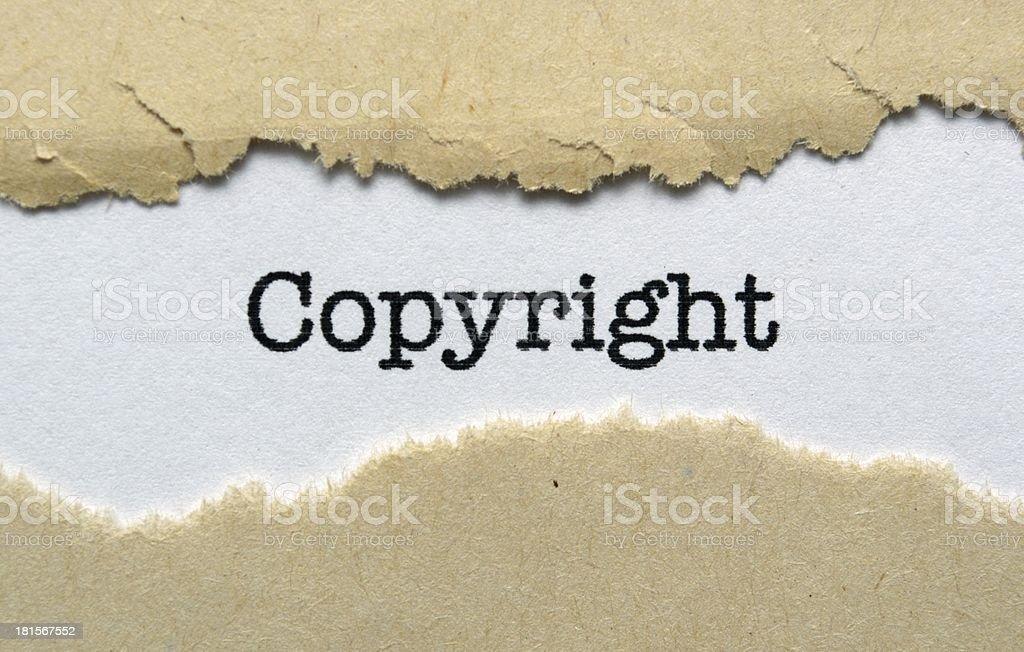 Copyright royalty-free stock photo