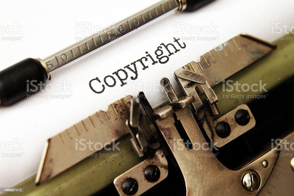 Copyright stock photo