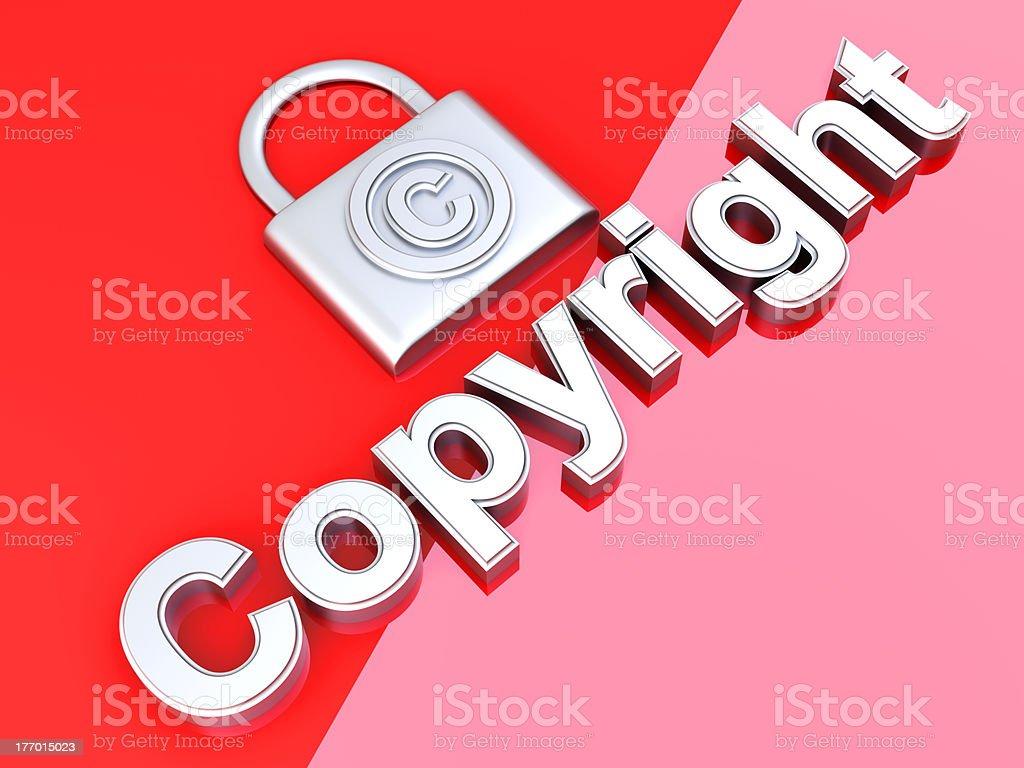 Copyright protection stock photo