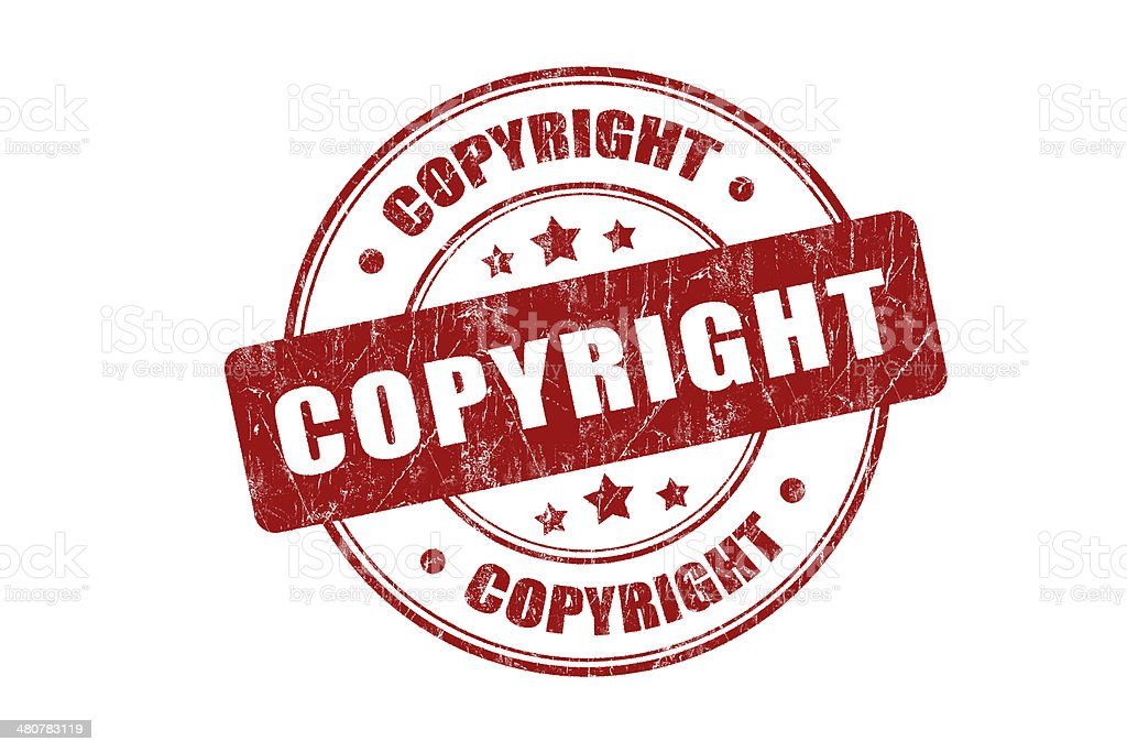 Copyright Rubber Stamp royalty-free stock photo
