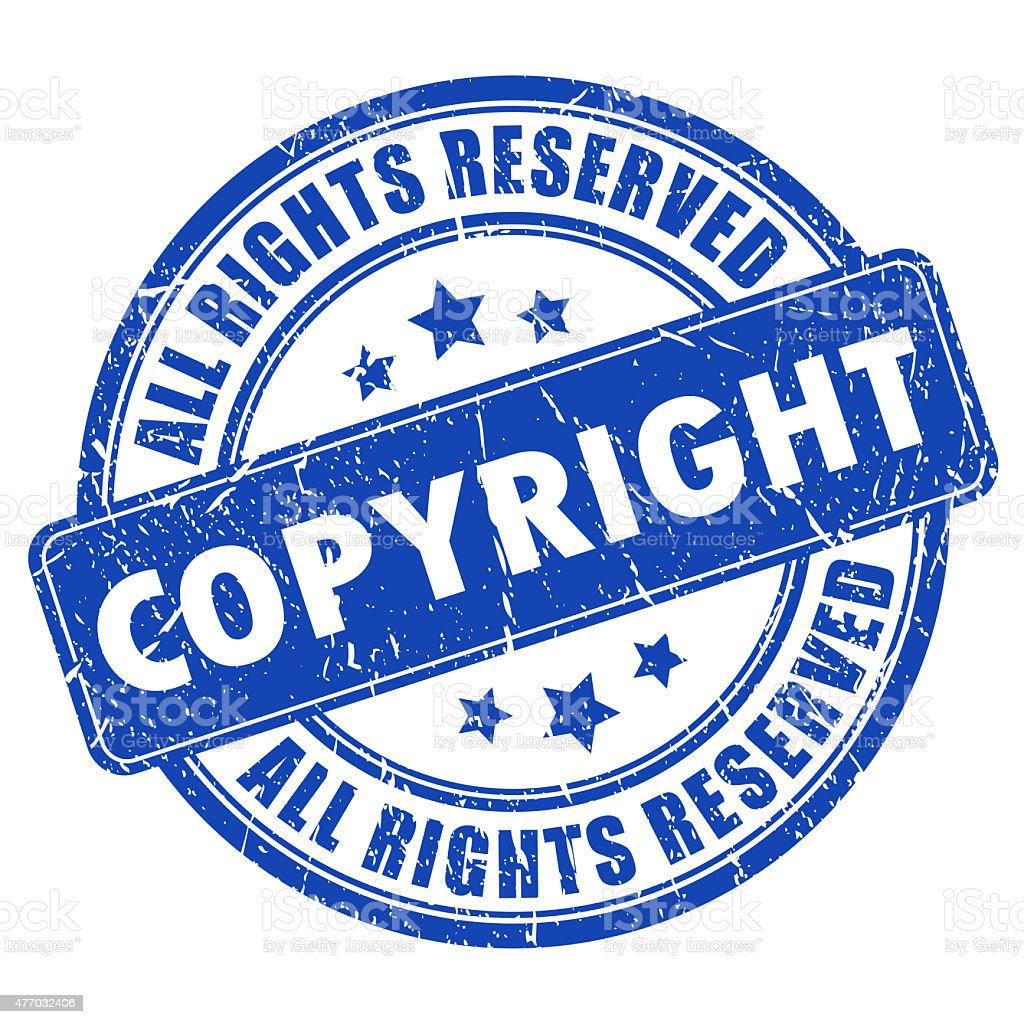Copyright stamp stock photo