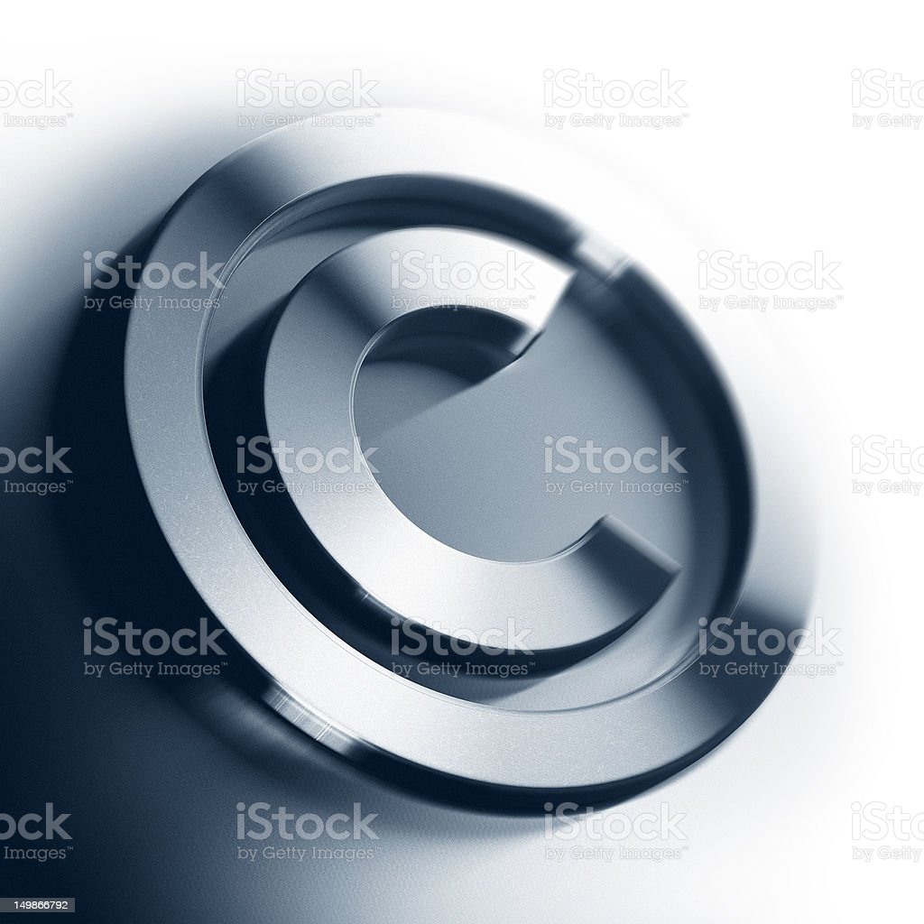 copyright symbol - design element stock photo
