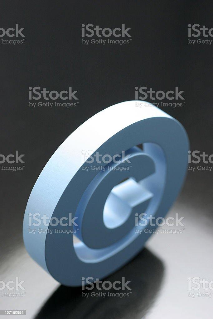 Copyright Symbol royalty-free stock photo