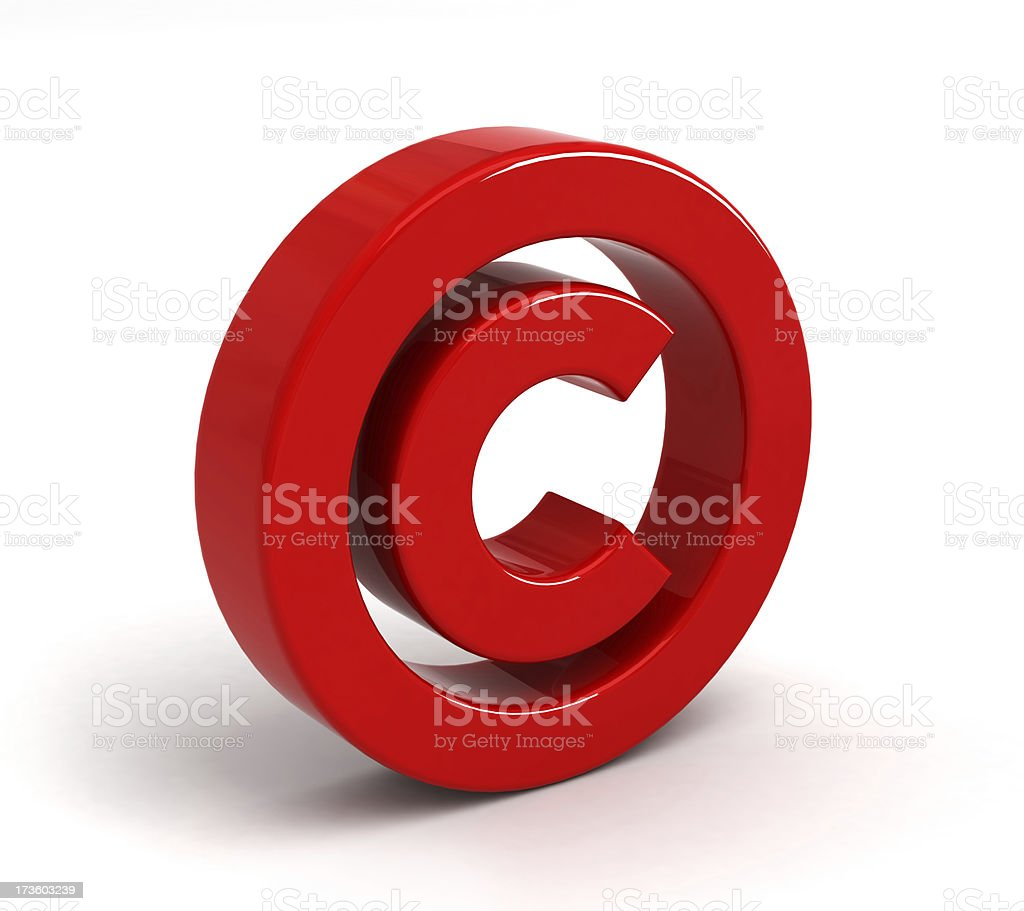 Copyright symbol stock photo