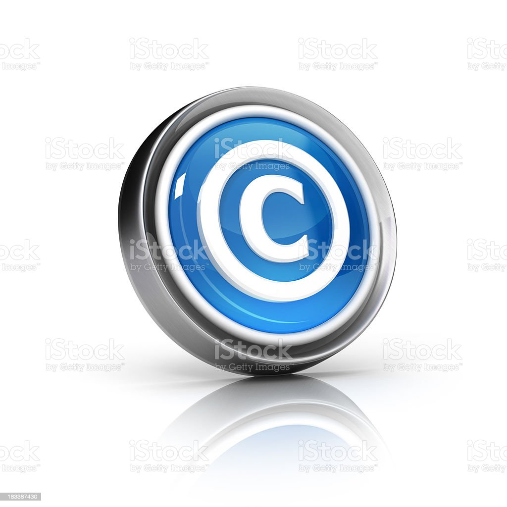 Copyrights Icon royalty-free stock photo